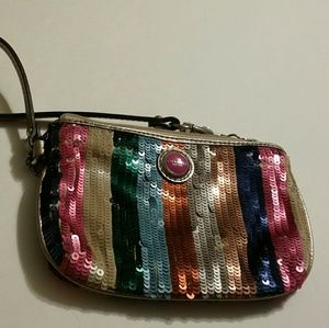 Coach Poppy Sequin Westley like new